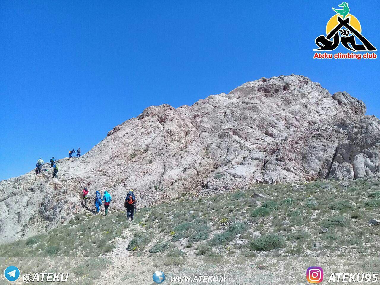 شیب آخر قله سماموس از مسیر لپاسر