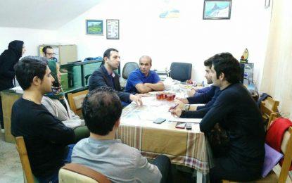 جلسه مدیران باشگاه با رئیس هیات کوهنوردی استان گیلان