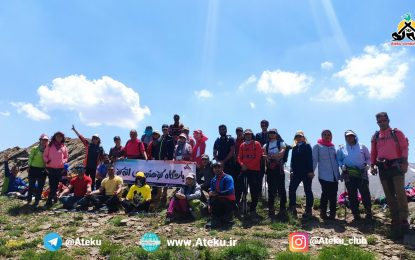 برنامه اجرا شده: قله صلوات کوه ۲۵۹۵ و گون کول۳۰۱۰ متر ۷ خرداد ۱۴۰۰